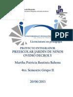 Proyecto Ovidio Decroly