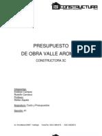 Cubicaciones y Apu