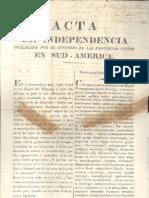 Acta de La Independencia