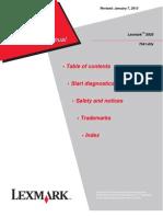 Lexmark X925 Service Manual