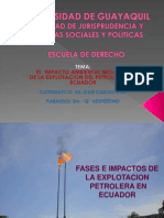 Fases e Impactos Actividad Petrolera Ecuador-esp