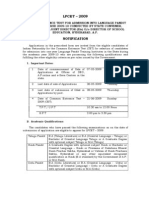 LPCET - 2009 Notification