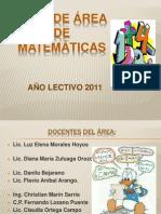 Presentacion Plan de Area Matematicas 2011
