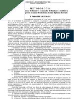 Metodologie Finaliz Studii 2010
