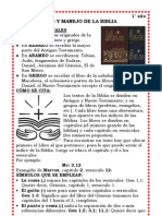 USO Y MANEJO DE LA BIBLIA 1°