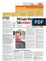 thesun 2009-05-07 page02 pas leader mohamad sabu detained