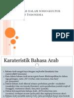 Bahasa Arab Dalam Sosio-kultur