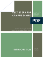 Next Steps for Campus Dining-EAF Spring 2013