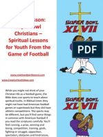 Object Lesson - Superbowl Christians – Spiritual Lessons for Youth From the Game of Football