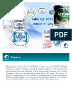 Danone Sales Q3 12 - Web Version