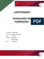 CUESTIONARIO HORMIGON