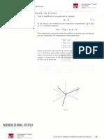 Equilibrio de Una Particula en Tres Dimensiones