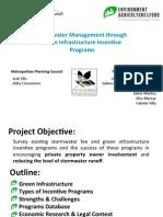 Stormwater Management Final Presentation - EAF Spring 2013