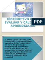 INSTRUCTIVO DE EVALUACIÓN