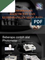 Pemeriksaan Elektrolit&Asam Basa