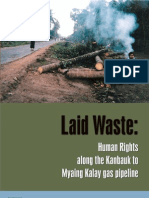 Laid Waste:Human Rights along the Kanbauk to Myaing Kalay gas pipeline