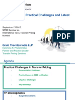 TP Presentation - Transfer Pricing Practical Challenges and Latest Developments-September 15 2012