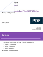 TP - Comparable Uncontrolled Price ('CUP') Method- MAy 2012