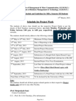 MBA Project Time Table & Guidelines for 13-14