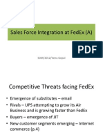 sales force integration at fedex