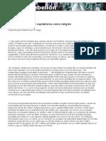 Agamben - WB y el capitalismo como religión