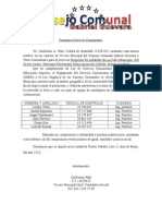 Carta Servicio Comunitario