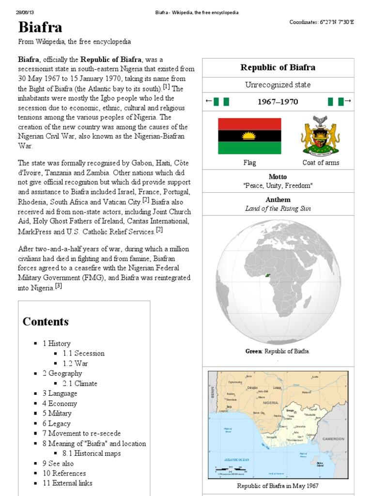 Biafra wikipedia the free encyclopedia biafra nigeria ccuart Choice Image