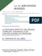 Archivos Filtro Drivers