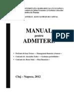 Manual Admitere Masterat-Banci Si Piete de Capital