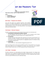 Hydrotest Dan Pneumatic Test