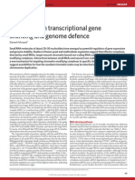 3.Transcriptional gene silencing and genome defence