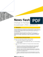 EY Newsflash - Changes to FDI Policy
