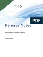 ReleaseNotes 3G-2G Neighbour Analysis January2006
