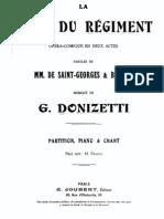 La Fille Du r Giment French Vocal Score