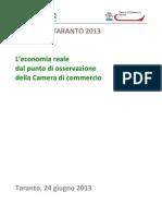 L'economia reale dal punto di vista della Camera di Commercio di Taranto