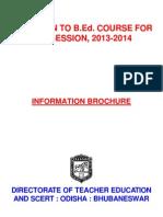 InformationBrochure BEd