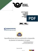 Construcción e inspección planta de tratamientos