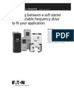 choosing soft starter or variable frequency drive