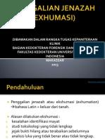 PENGGALIAN JENAZAH (EXHUMASI)