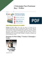 7 Tecnicas Y Estrategias Para Posicionar Tu Web o Blog. + Trafico