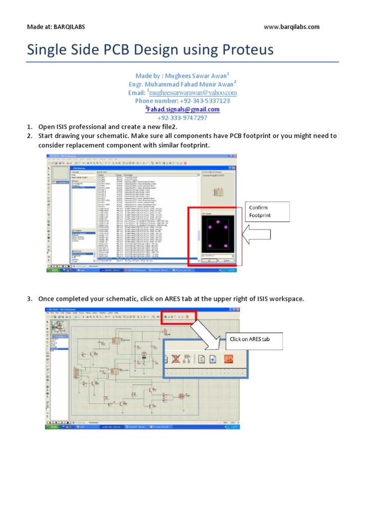 Single Side Auto Route PCB Design Using Proteus by Mughees