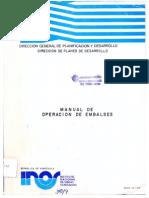 INOS. Manual de Operación de Embalses