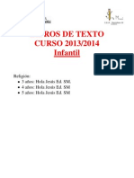 Libros de Texto Ed. Infantil 13-14