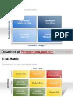 PowerPoint Risk Matrix Template