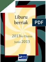 2013ko Ekaineko berriak -- Novedades junio 2013