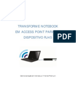 Guia - Transforme Notebook Em Access Point RJ45