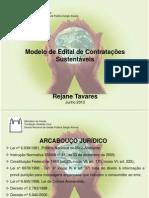 Rejane Maria Tavares Santos, responsável do serviço de gestão de compras  da ENSP - Modelo de editais de contratações sustentáveis