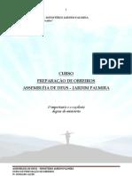APOSTILA PREPARAÇÃO DE OBREIROS