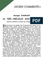 [Alchimie] Georges Aurach - Le très précieux don de Dieu