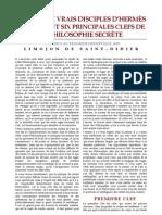 [Alchimie] Limonjon de Saint-Didier - 3 - Lettre aux vrais disciples d'Hermès